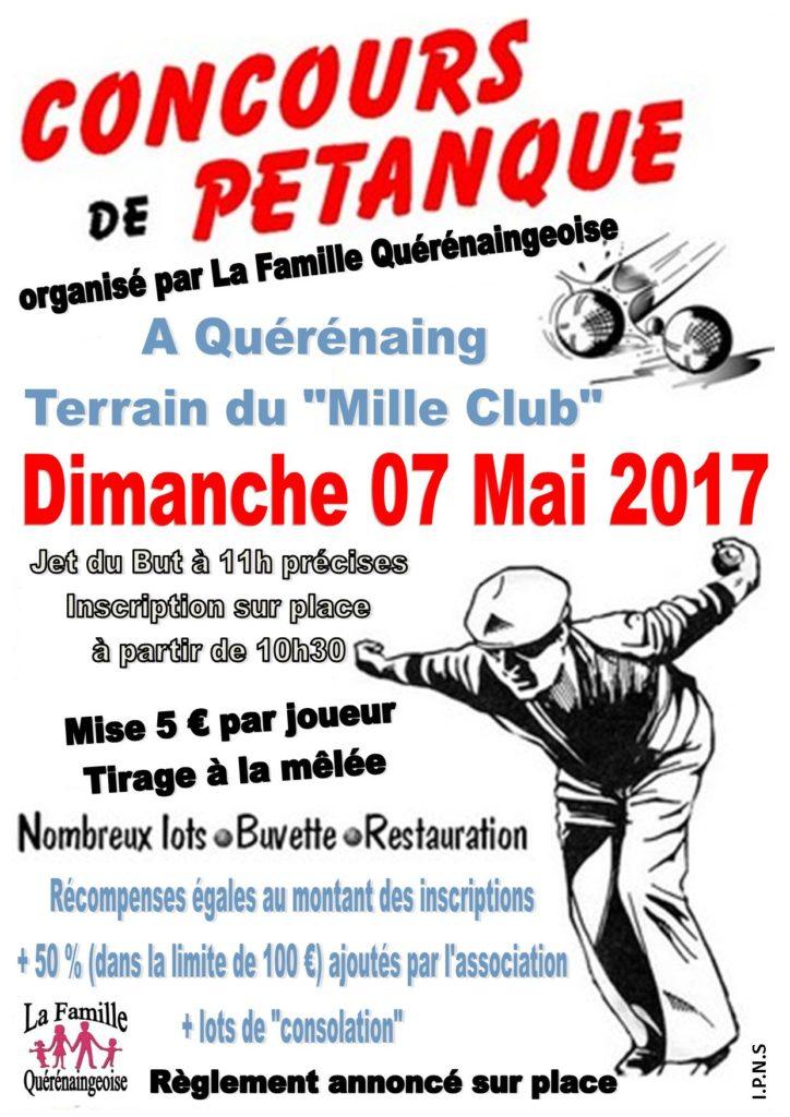 Affiche Concours de Pétanque - Mai 2017