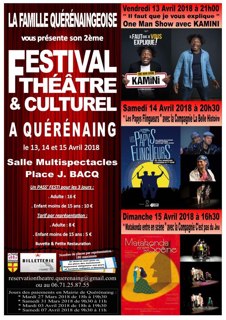 Affiche Festival Théâtre et Culturel 2018 pour diffusion et impression